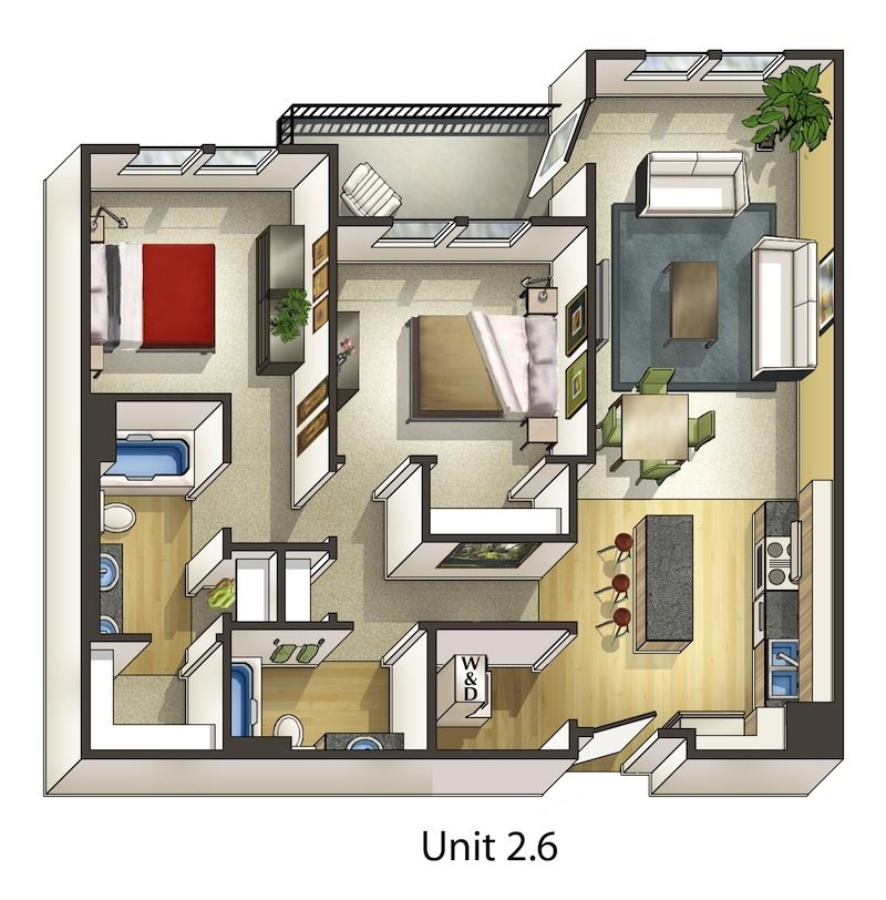 Floor Plans Of Arbour Square Apartments In Westminster, CO