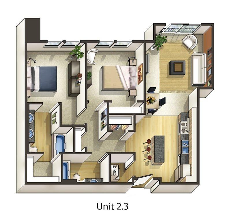 Oak Floor Plan 12