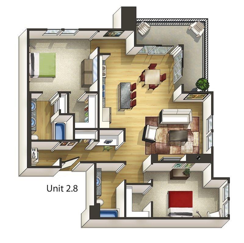 Hawthorne Floor Plan 14