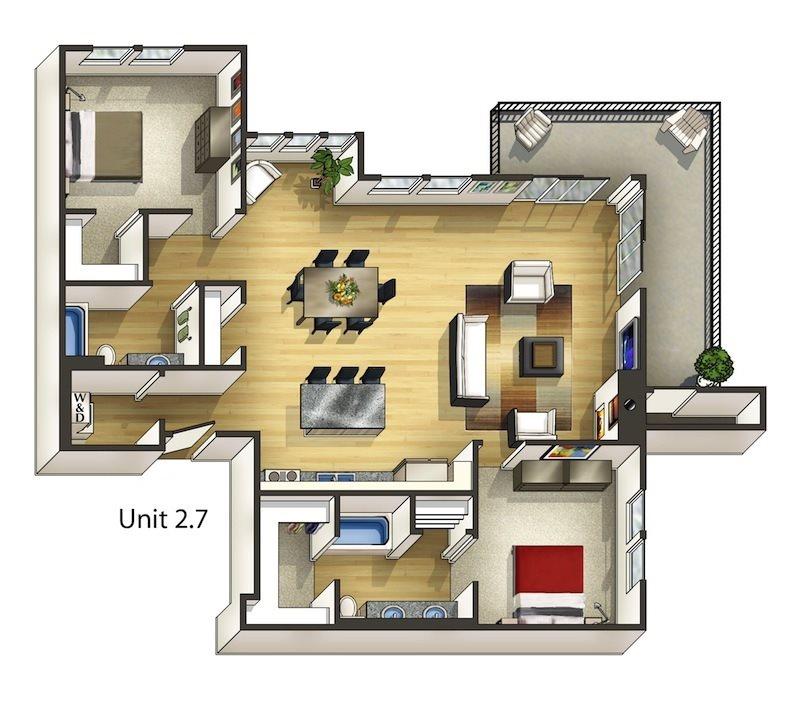Mahogany Floor Plan 15
