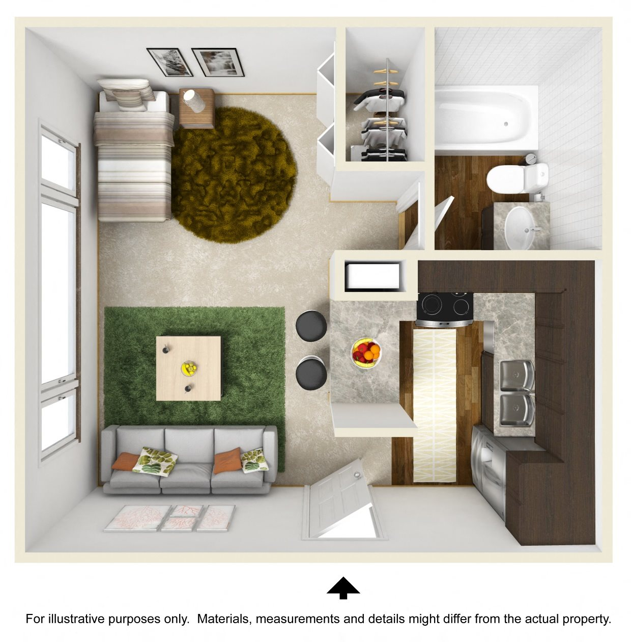 Capris Falls Floor Plan at The Falls Apartments in Raleigh NC