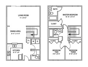 Floor Plan in State College, PA | Blue Course Commons | Property Management, Inc.