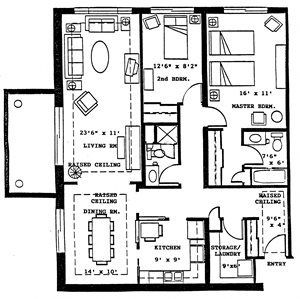 2 Bedroom 2 Bath