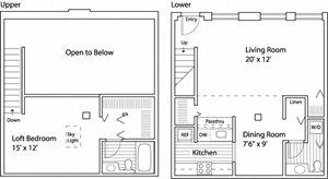 1 Bed 1.5 Bath - Loft