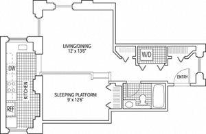 1 Bed 1 Bath - Platform
