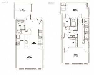2 Bedroom + Den Penthouse 1