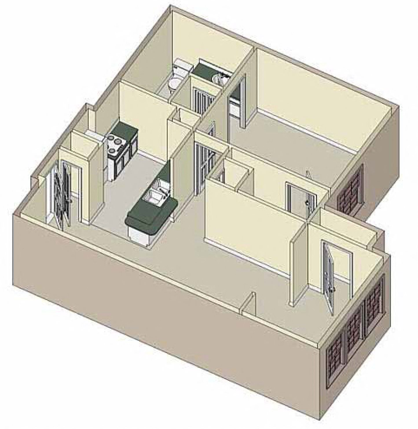 Tranquility 1x1 Floor Plan 9
