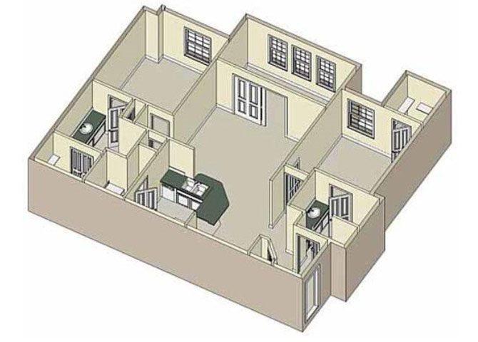 Comfort 2x2 Floor Plan 4
