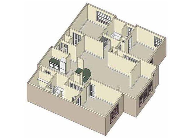 Serenity 3X2 Floor Plan 8