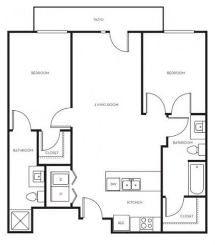 Riverpark Floor Plan 3