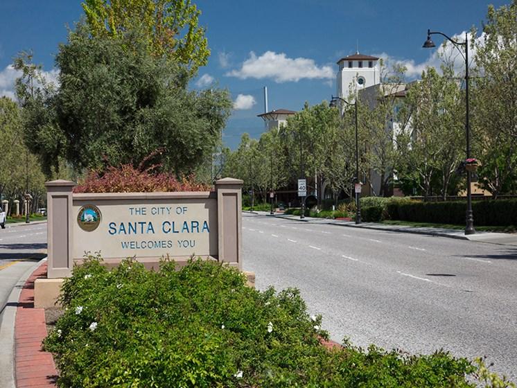 city of santa clara welcoming sign