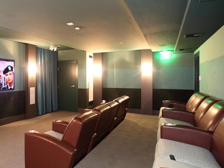Community movie screening room