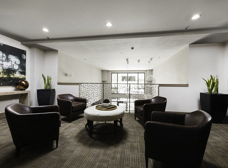 Lobby with seating area upstairs