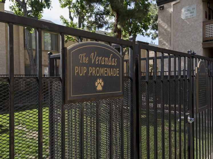 Dog Park Access at The Verandas Apartments, 200 N. Grand Avenue, CA