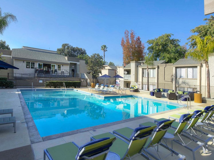 Poolside Sundeck and Grilling Area at The Verandas Apartments, CA, 91791