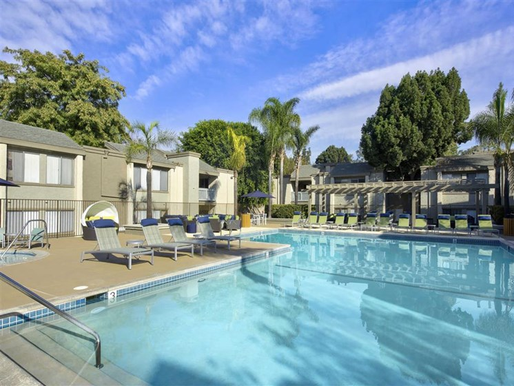 Resort Inspired Pool and Spa at The Verandas Apartments, 200 N. Grand Avenue, West Covina