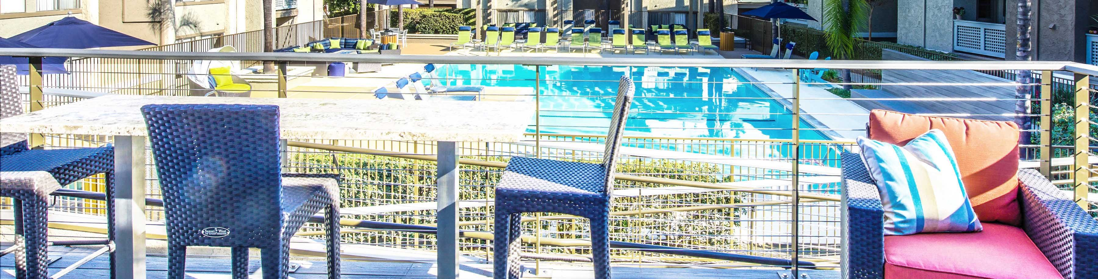 Outdoor Relaxing Area at The Verandas Apartments, West Covina, CA