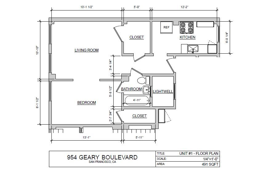 1 Bedroom Floor Plan 10