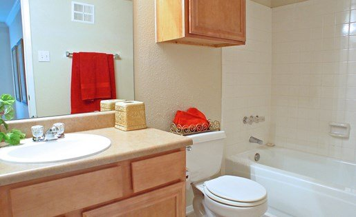 Bathroom at The Bradford Apartments, Webster Texas