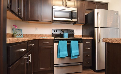 Modern Kitchen at The Bradford Apartments, Webster Texas