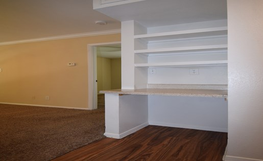Built-in Shelves at The Bradford Apartments, Webster Texas