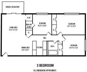 3Bedroom   1Bathroom