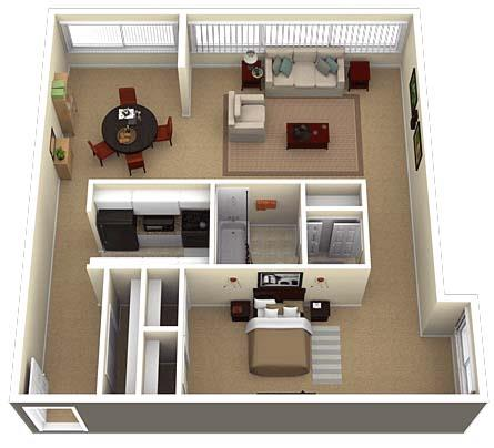 1Bedroom 1Bathroom