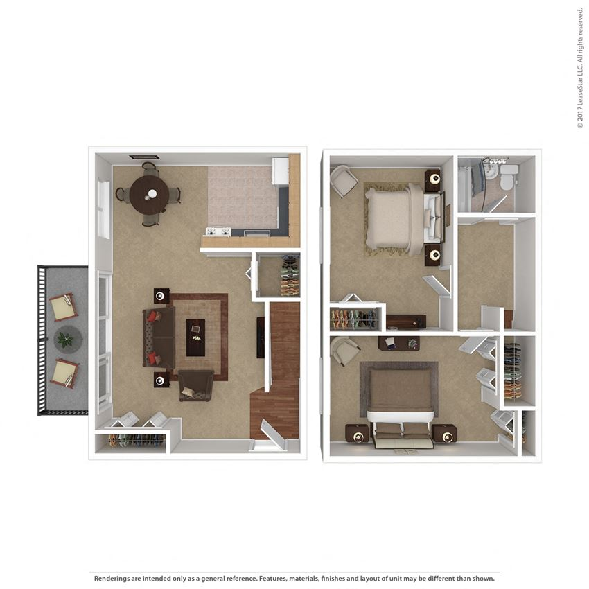 2Bedroom  1Bathroom Duplex