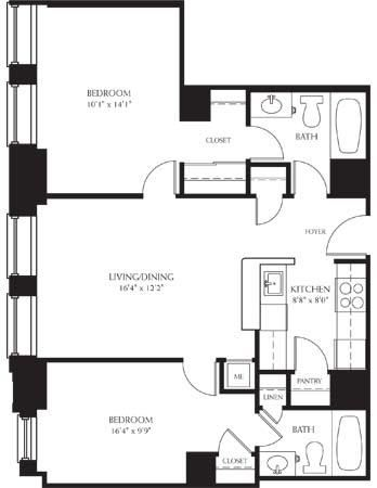 2Bedroom 2Bathroom