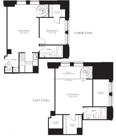 2Bedroom 2Bathroom Loft
