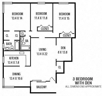 3Bedroom  Den  2Bathroom
