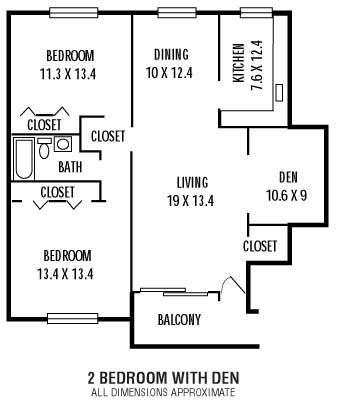 2Bedroom  Den  1Bathroom