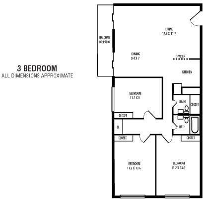 3Bedroom  1.5BA