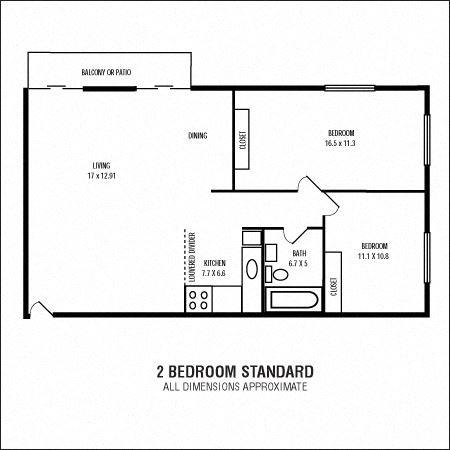 2Bedroom  1Bathroom