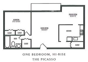 1 Bedroom 1 Bathroom Hi-Rise