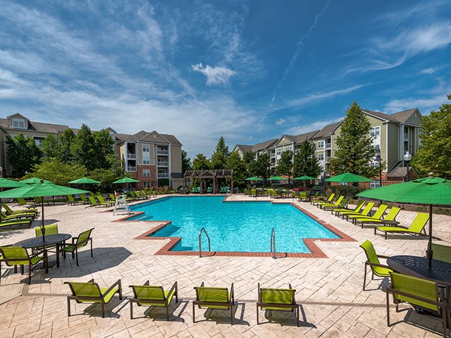 The Residences at Springfield Station - Pool & Lounge area