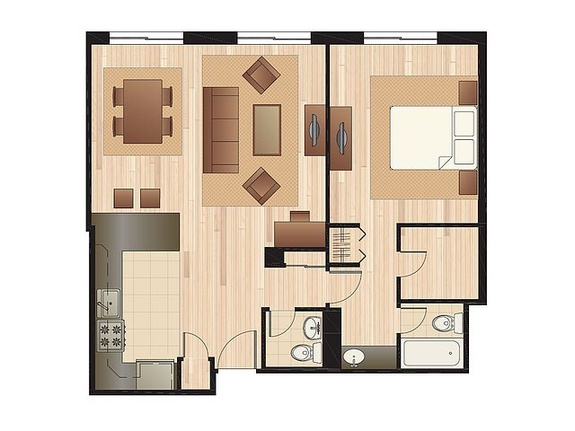 Executive Master Suite Floor Plan 3