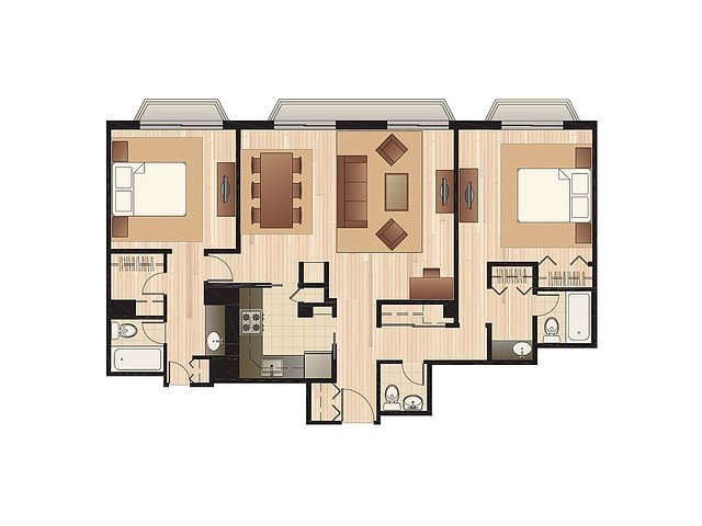 Dual Master Suite Floor Plan 4