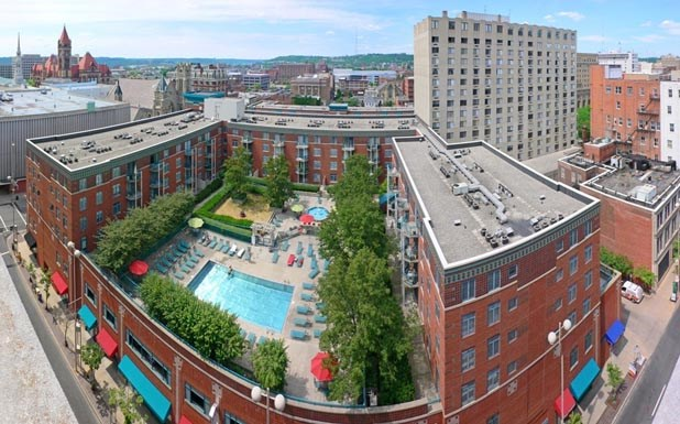 Aerial Property View at Gramercy on Garfield, Cincinnati, OH, 45202