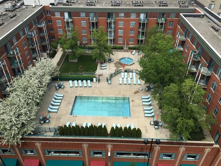 Pool View From Top at Gramercy on Garfield, Cincinnati, 45202
