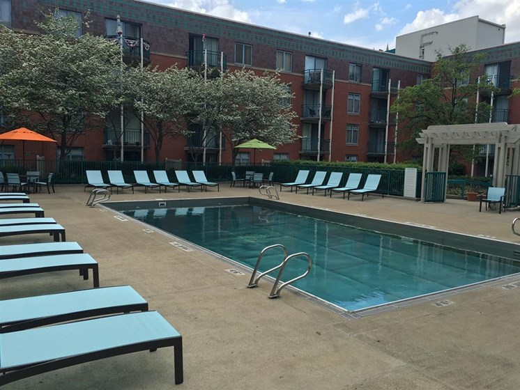 Relaxing Pool Area With Sundeck at Gramercy on Garfield, Cincinnati