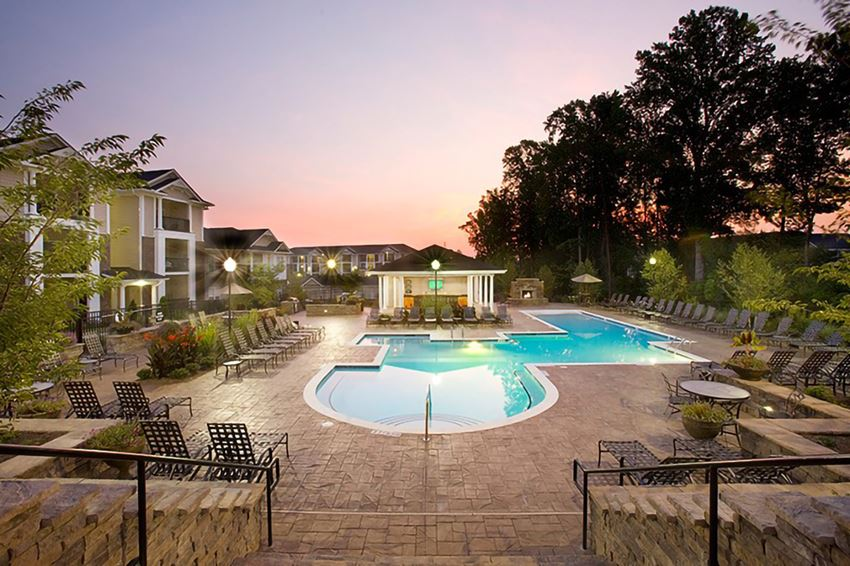 Outdoor Swimming Pool at Abberly Place at White Oak Crossing Apartments, HHHunt Corporation, Garner, NC
