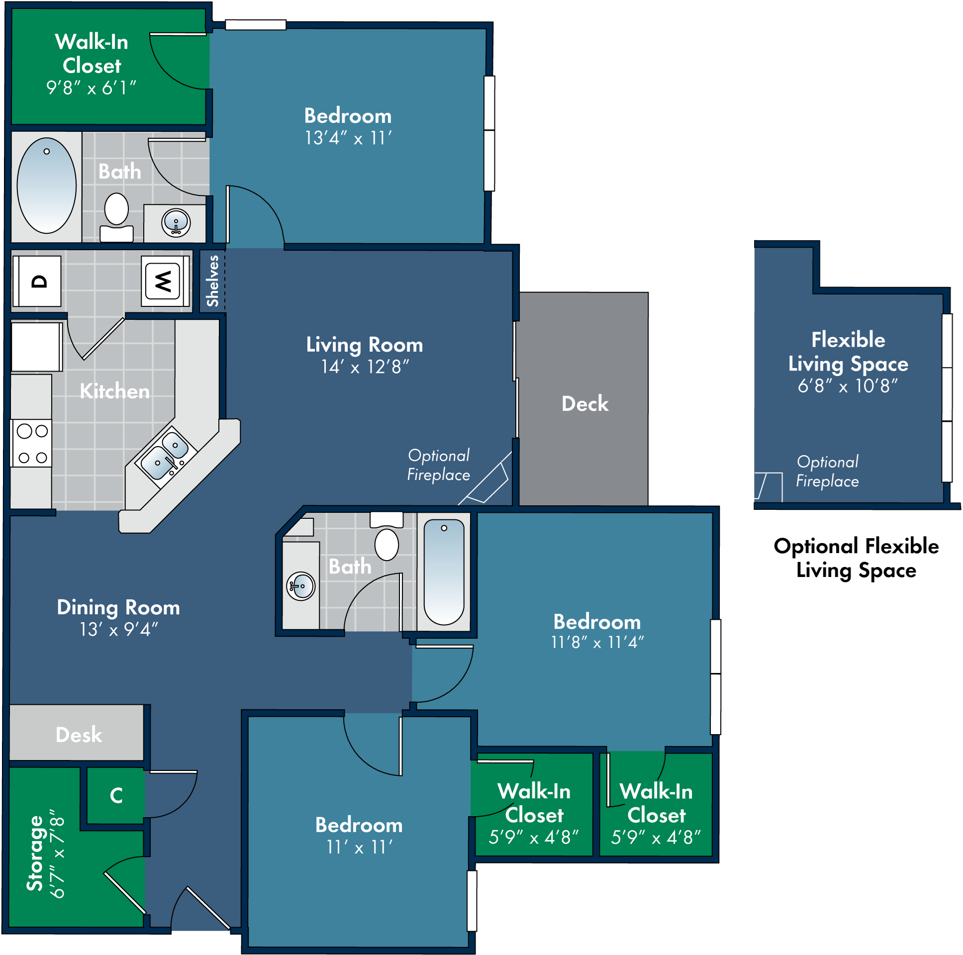 Floorplan for Mendocino at Abberly Place at White Oak Crossing by HHHunt, Garner, 27610