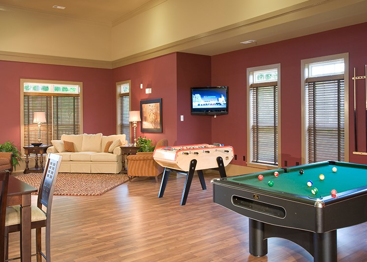 Have your friends over for a game of 8 ball at Abberly Place at White Oak Crossing by HHHunt, Garner