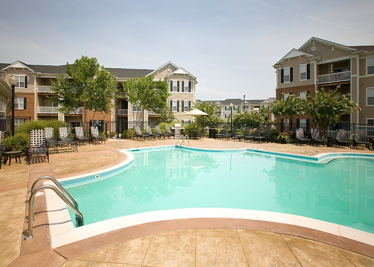 Pool with lap area at Abberly Place at White Oak Crossing, North Carolina