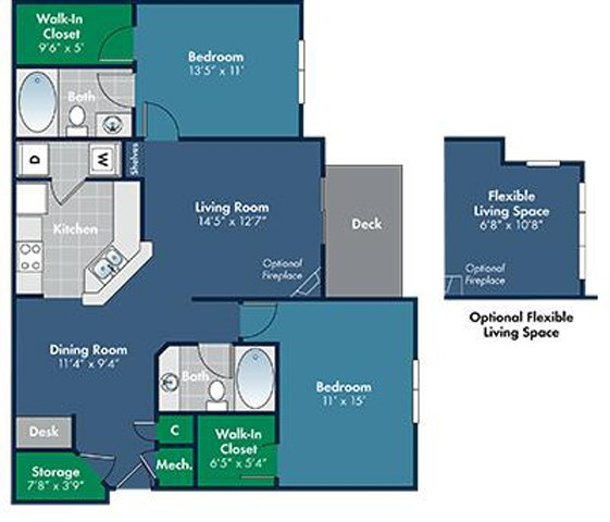 Floorplan for lyon at Abberly Place at White Oak Crossing by HHHunt, Garner, NC 27610