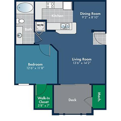 Floorplan for Monterey at Abberly Place at White Oak Crossing by HHHunt, North Carolina