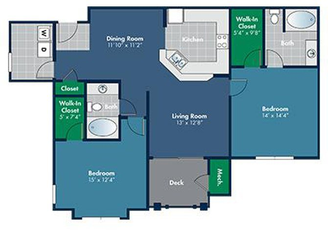 Floorplan for Solano at Abberly Place at White Oak Crossing by HHHunt, Garner