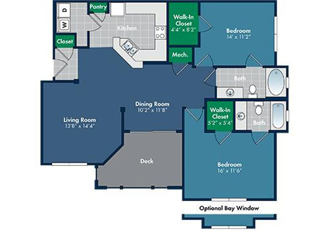 Floorplan for Sonoma at Abberly Place at White Oak Crossing by HHHunt, North Carolina
