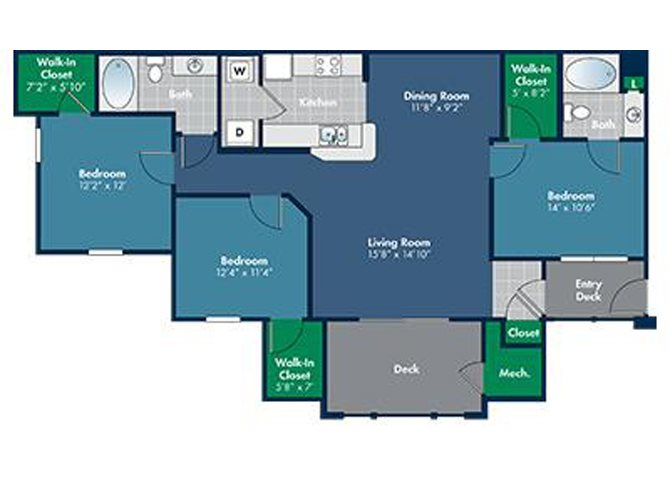 Floorplan for Tiburon at Abberly Place at White Oak Crossing by HHHunt, North Carolina, 27610